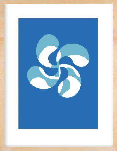 lauburu bleu cote basque saint jean de luz
